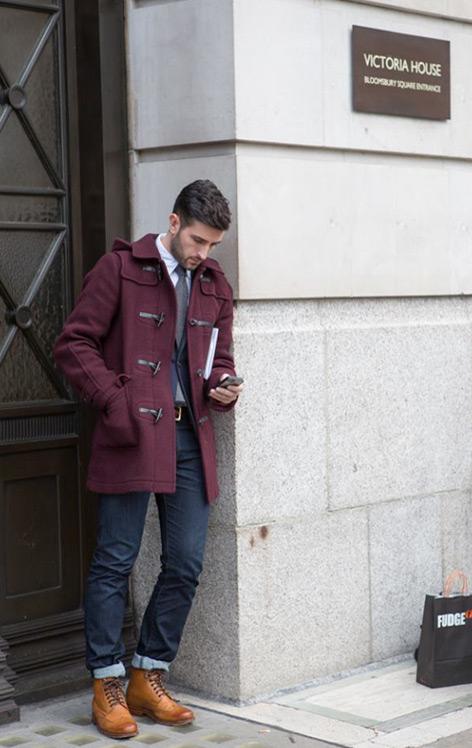 burgundy outerwear