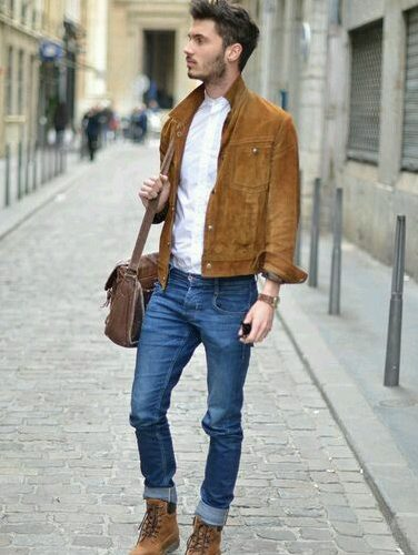 blue & brown