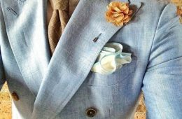tied with pocket square